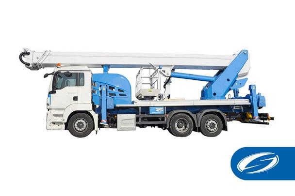 Camion avec panier de levage articule potence ForSte 51TJ Socage