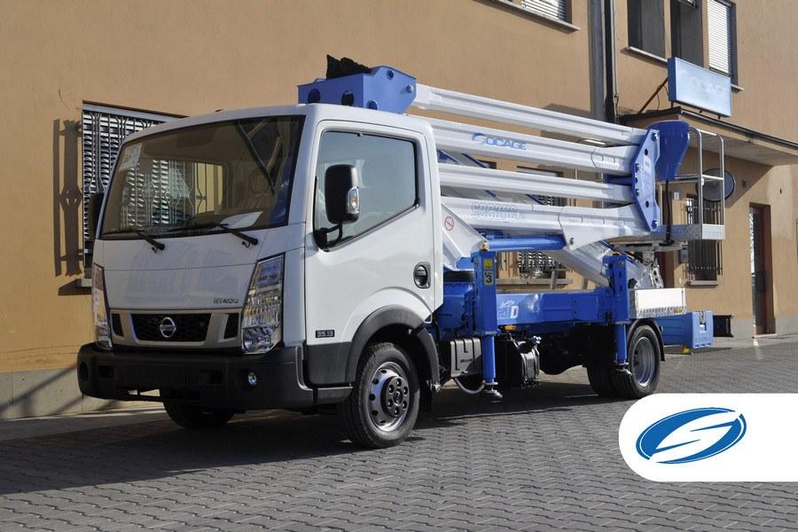 Camions avec panier élévateur ForSte 28D vehicule Socage