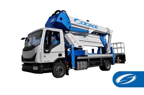 camion avec panier élévateur avec flèche ForSte 37dj speed Socage