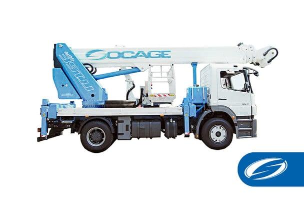camion grue avec panier potence ForSte 39TJJ Socage