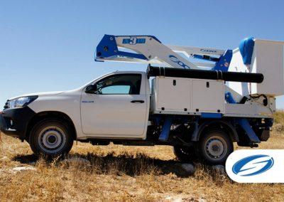 pick up avec panier relevable ForSte 14A TOYOTA HILUX tout terrain Socage