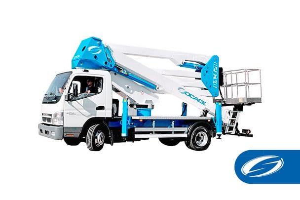 plates formes élévatrices pour camions ForSte 28DA 2 Socage
