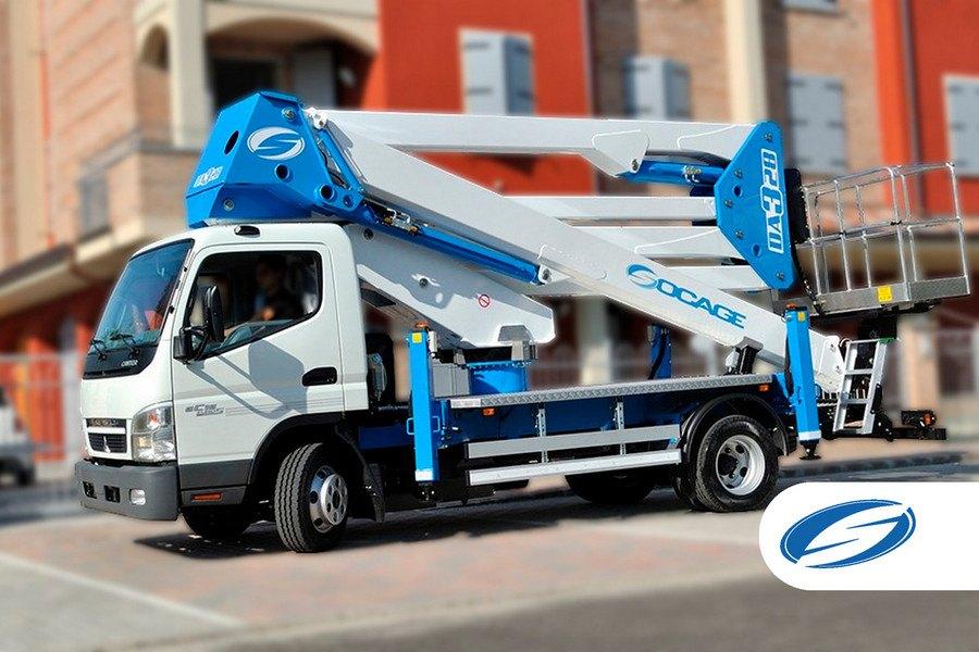 plates formes élévatrices pour camions ForSte 28DA 2 laterale Socage