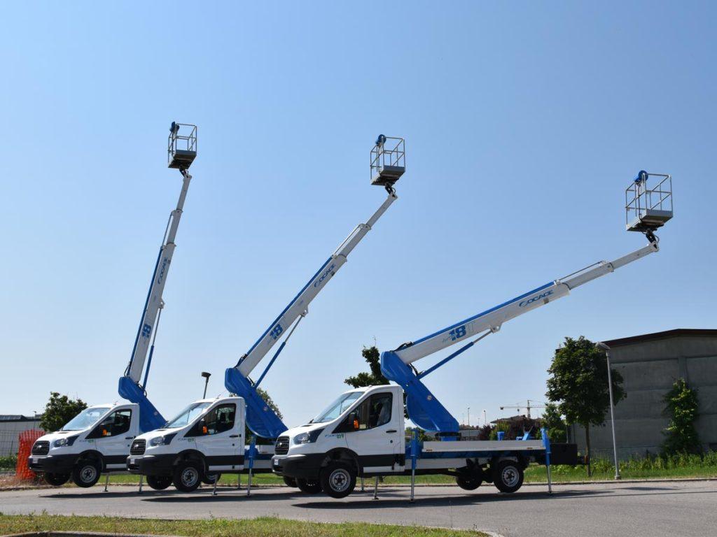 Nacelles télescopiques sur camion 18T