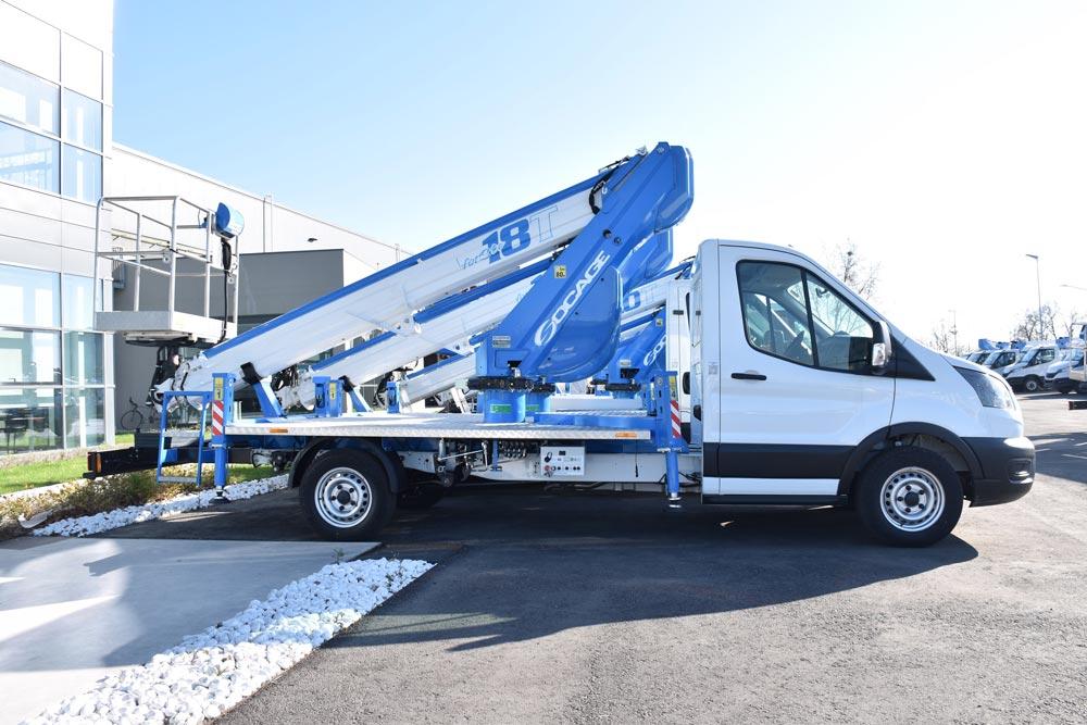 Nacelle télescopique sur camion SPEED 18T