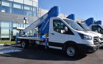 Nacelle télescopique sur camion SPEED 18T. La solution urbaine compacte et polyvalente.