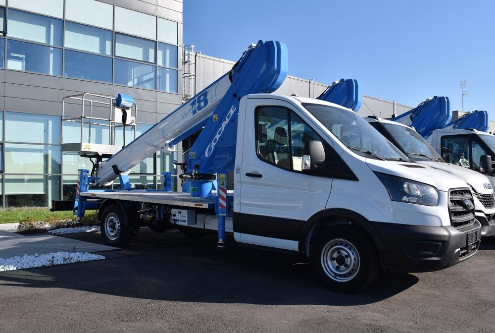 Nacelle télescopique sur camion forSte 18T speed