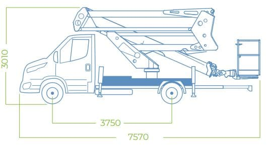 dimensions camion nacelle 24D SPEED